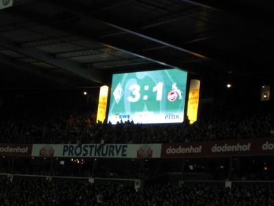Endstand Werder Bremen - 1.FC Köln